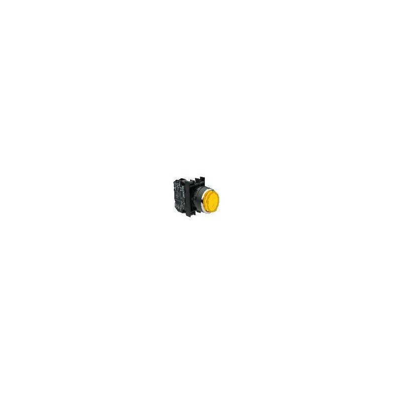 B102HS ⟡ Кнопка выступающая желтая (1НО+1НЗ)
