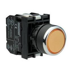 B1S2DS ⟡ Кнопка со светодиодной подсветкой желтая