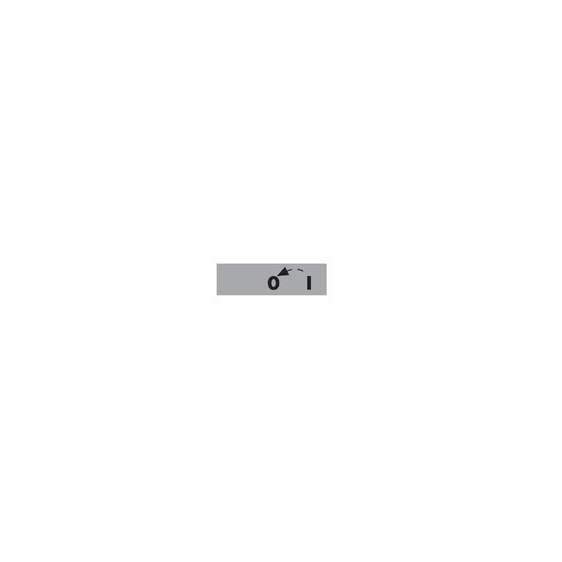 BET08 0-1 OK ⟡ Табличка «0-1» со стрелкой возврата из «1 в 0» - 8 мм