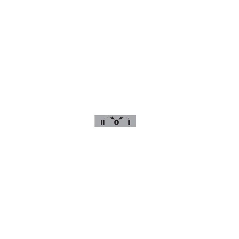 BЕТ08-201ОК2 ⟡ Табличка «2-0-1» со стрелками возврата из «1 в 0» и из «2 в 0» - 8 мм