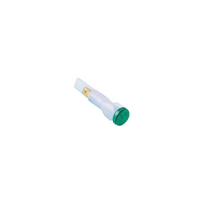 S105Y ⟡ Сигнальная арматура 10мм зеленая без гайки с неон. лампой