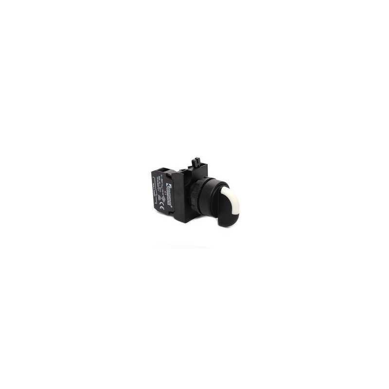 CP1M0S20 ⟡ Переключатель 0-1 с фиксацией (1НО) с LED синий (100-250В DC)
