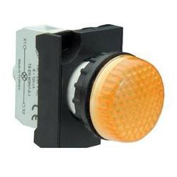 CP080XS ⟡ Арматура сигнальная желтая со светодиодом 12-30 В переменного и постоянного тока