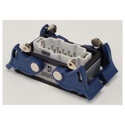 EBM10FM44 ⟡ Вилка низкая, 4-фиксатора, для панели, 10 полюсов, 16А