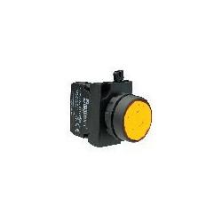 CP102DS ⟡ Кнопка нажимная круглая желтая (1НО+1НЗ)