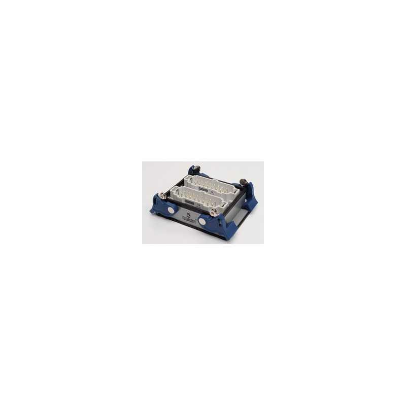EBM32FM44 ⟡ Вилка низкая, 4-фиксатора, для панели, 32 полюса, 16А