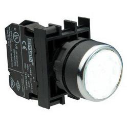B132DB ⟡ Кнопка с неоновой подсветкой белая