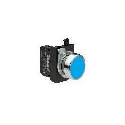 CM102DМ ⟡ Кнопка нажимная круглая синяя (1НО+1НЗ)