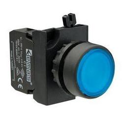 CP100DM ⟡ Кнопка нажимная круглая синяя (1НО)