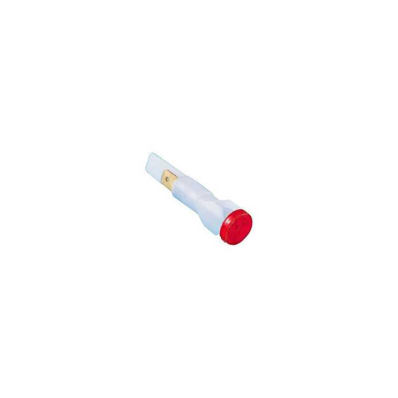 S105K ⟡ Сигнальная арматура 10мм красная без гайки с неон. лампой