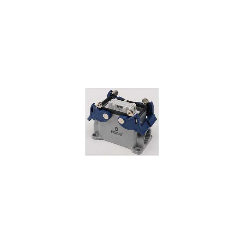 EBM10PD24 ⟡ Розетка, 4-фиксатора , 2-боковых ввода, для панели 10 полюсов