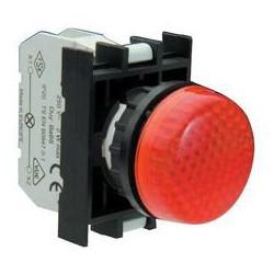B0K0XK ⟡ Арматура сигнальная красная со светодиодом 100-200 В переменного тока