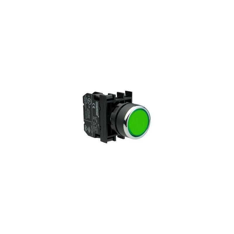 B202DY ⟡ Кнопка нажимная круглая зеленая