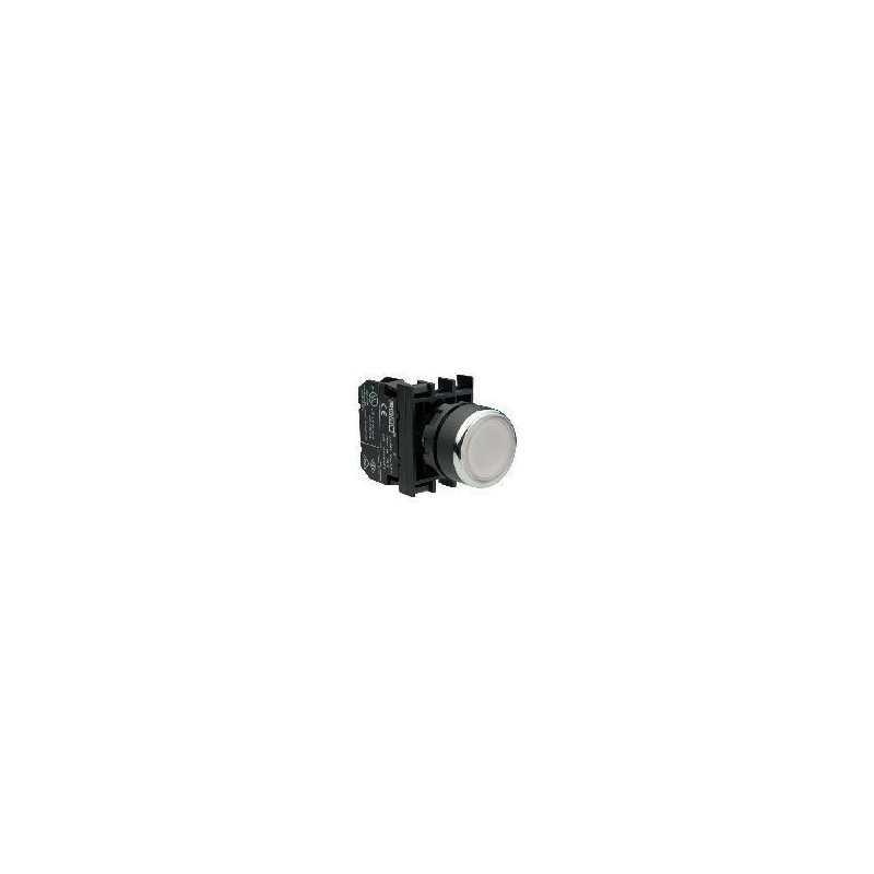 B202FB ⟡ Кнопка с фиксацией белая (2НЗ)