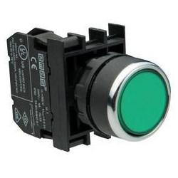 B132DY ⟡ Кнопка с неоновой подсветкой зеленая
