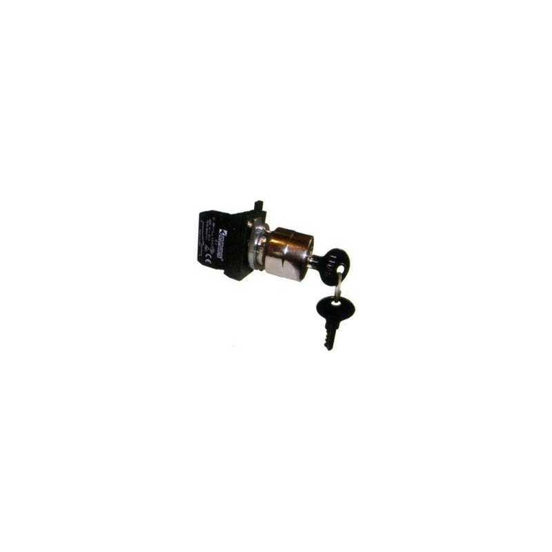 CM102A31 ⟡ Кнопка с ключом 2-0-1, ключ вынимается в положении 0 (1НО+1НЗ) (CM)