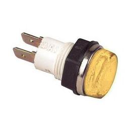 S140S ⟡ Сигнальная арматура Ø 14мм желтая с лампой 220В