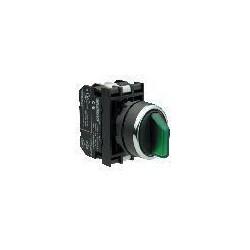 B130SL20Y ⟡ Переключатель с подсветкой неон 0-1 с фиксацией зеленый (1НО)