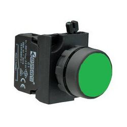 CP100DY ⟡ Кнопка нажимная круглая зеленая (1НО)