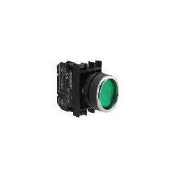 B102FY ⟡ Кнопка с фиксацией зеленая (1НО+1НЗ)